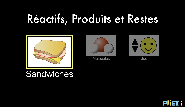 Sandwichs et avancement