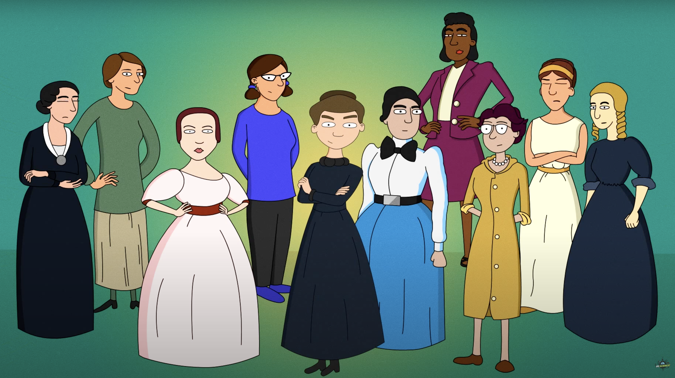 *English* Women in science who changed the world (video)