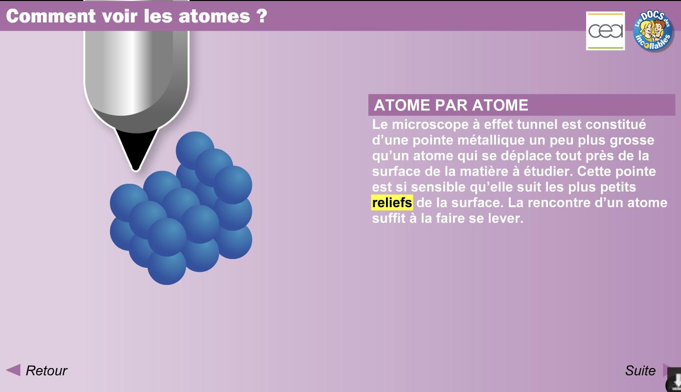 Comment voir les atomes ?
