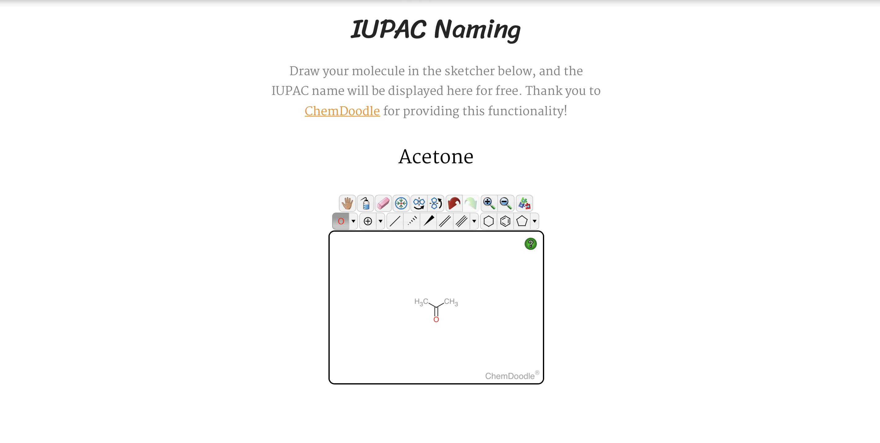 *English* IUPAC Naming