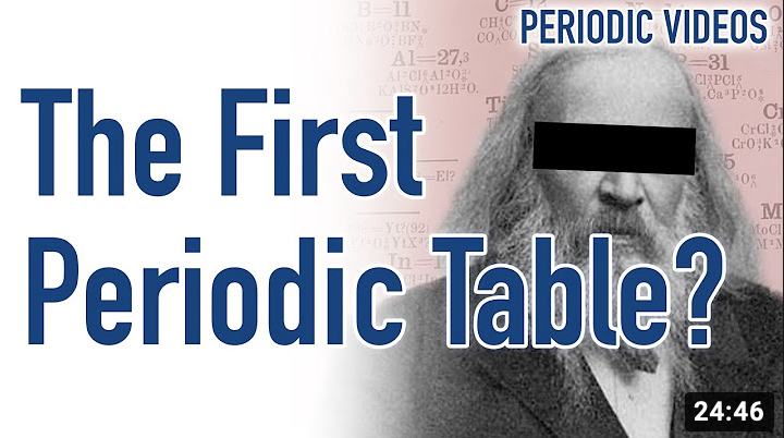 *English* Who REALLY invented the periodic table? (video)