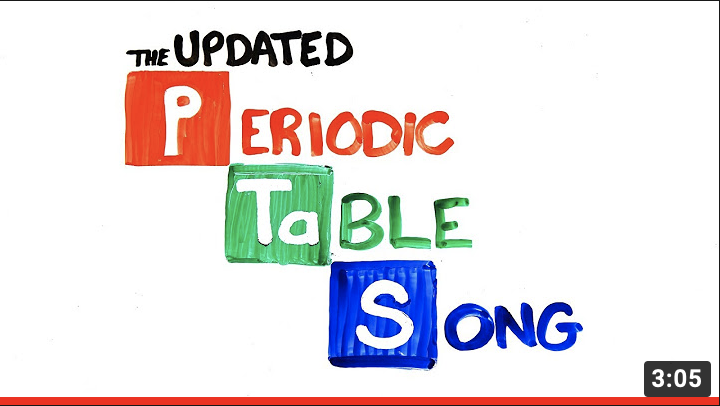 *English* The Periodic Table Song (video)
