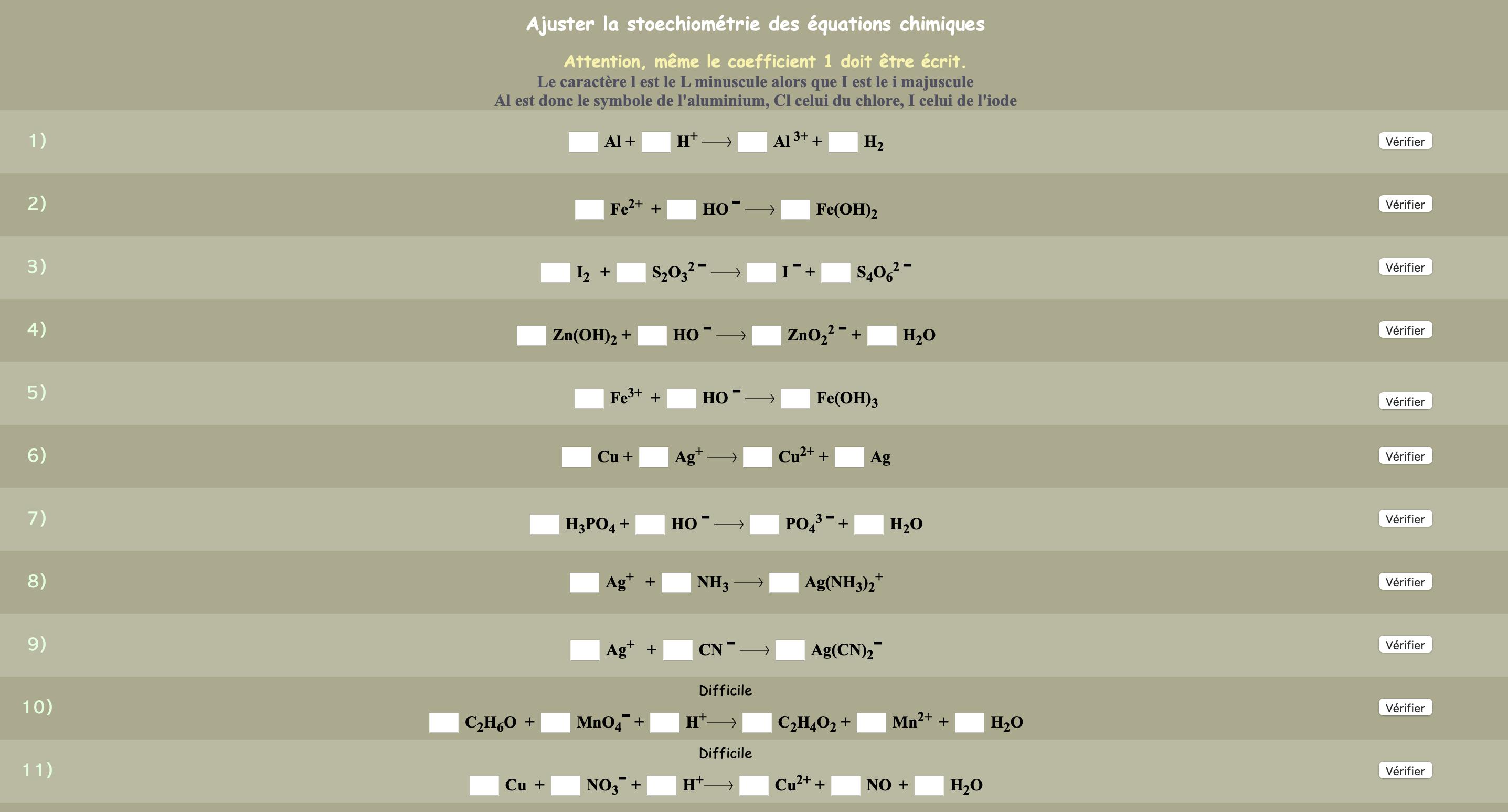 Equilibrer des équations chimiques avec des ions (4)