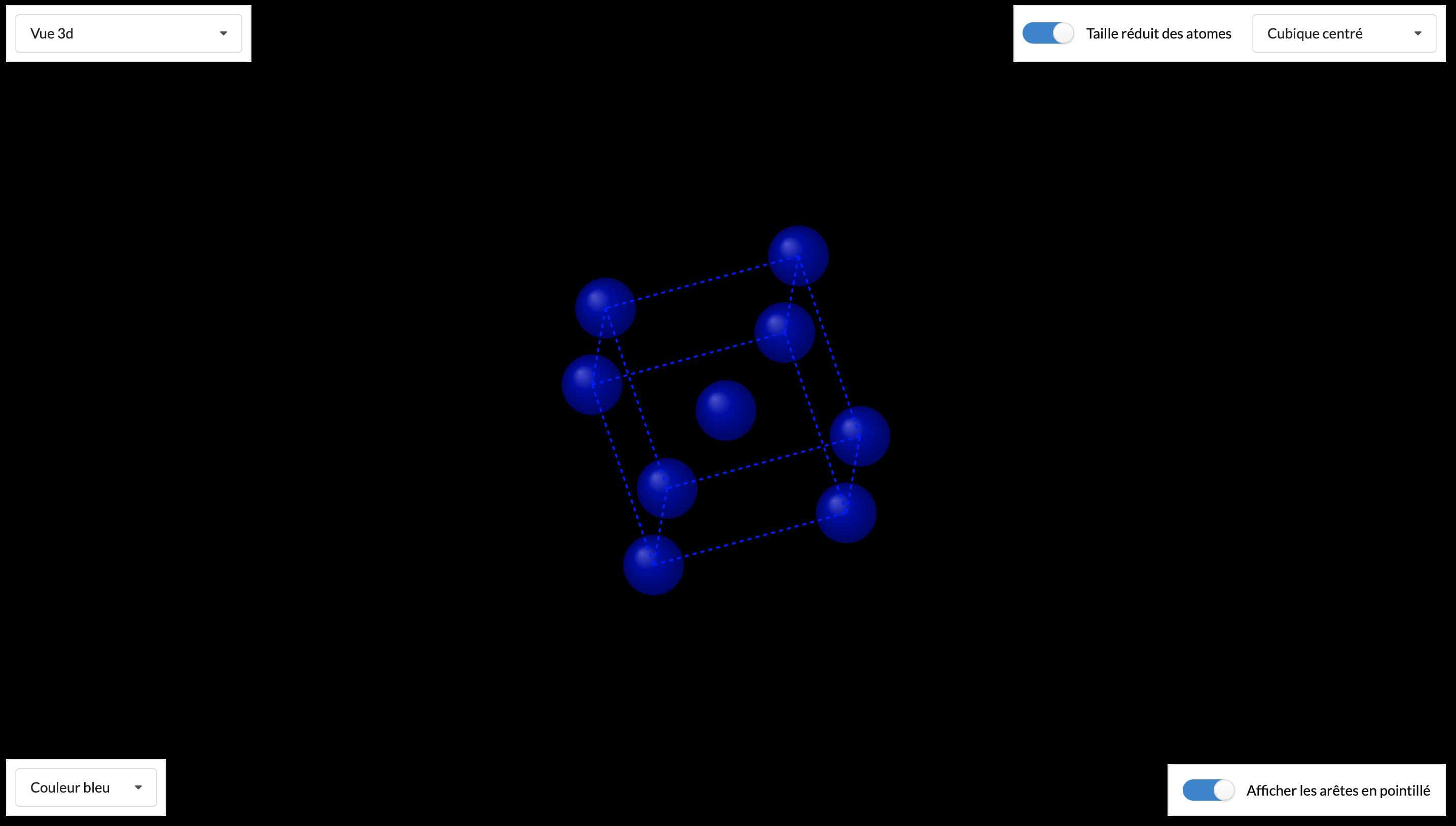 Réseaux cubiques en 3D