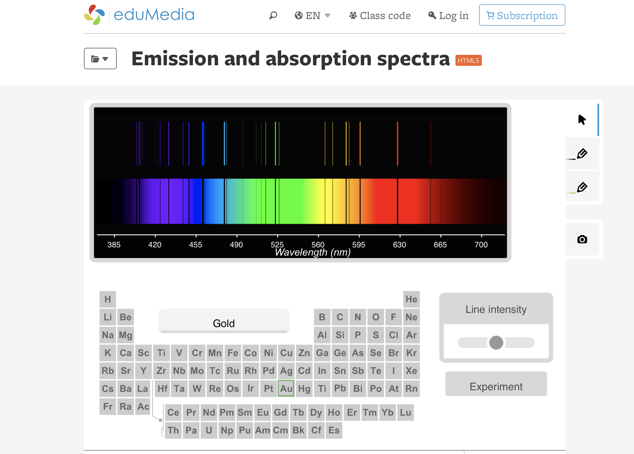 *English* Emission and absorption spectra